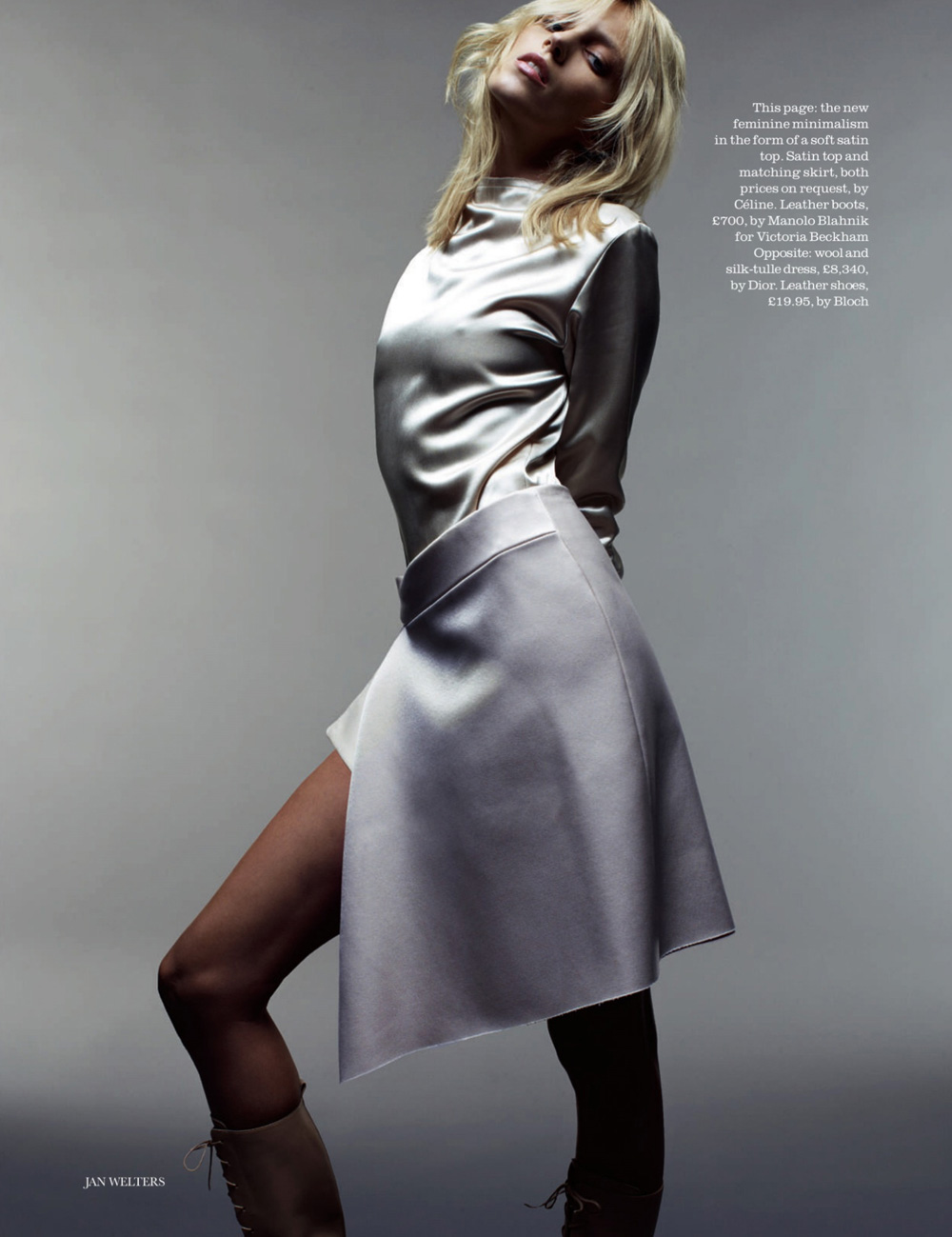 Anja Rubik By Jan Welters For Elle Uk White Top