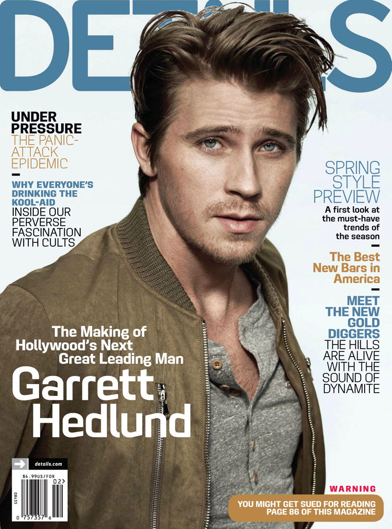 Garrett Hedlund for Details February 2012
