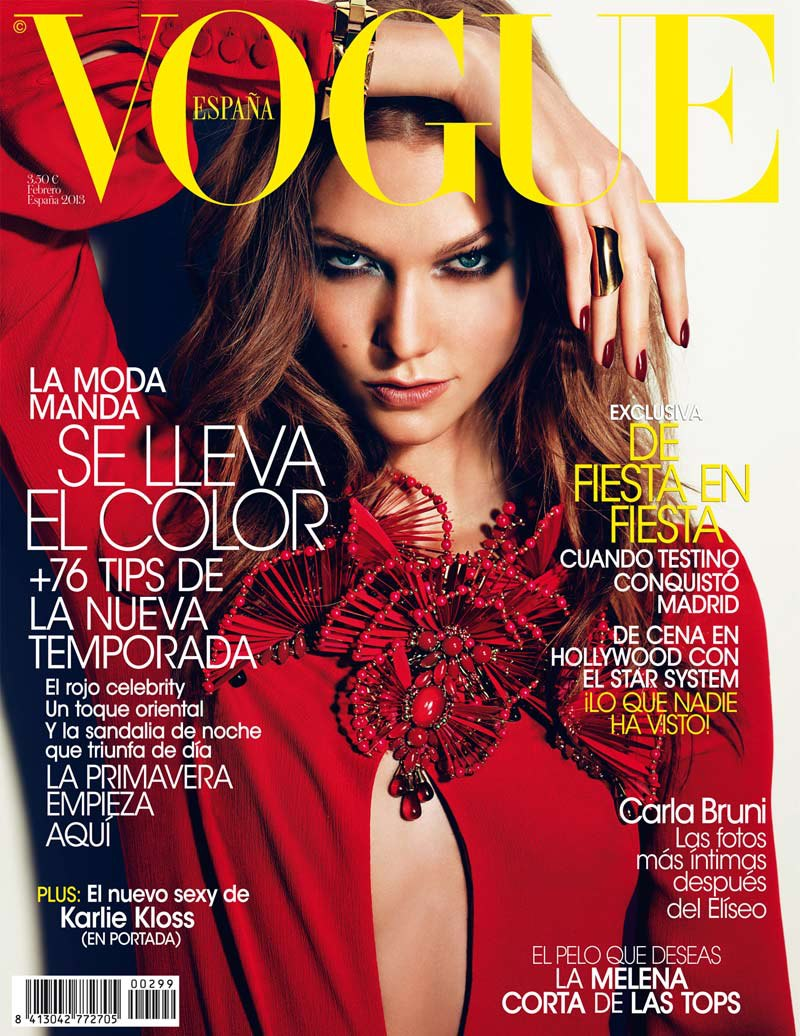 karlie kloss in gucci for vogue spain february 2013