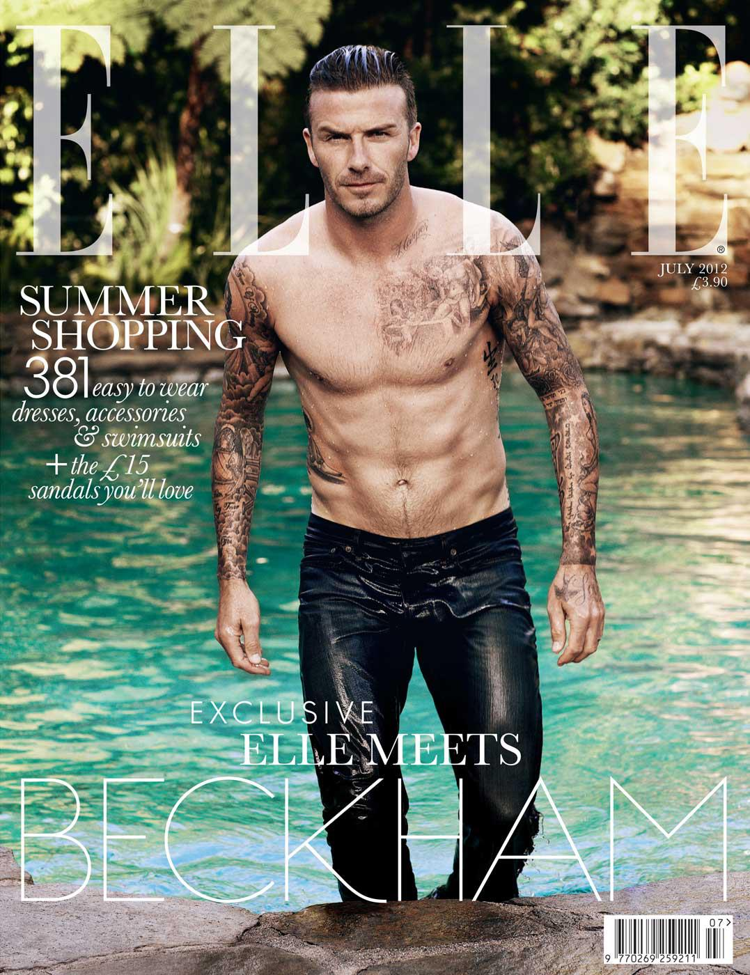 David Beckham gets his own covers of British Elle with a splendid ...