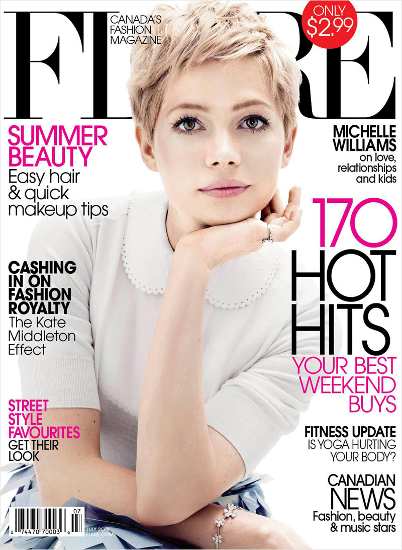 Michelle williams for flare july 2012 for Elle magazine this month