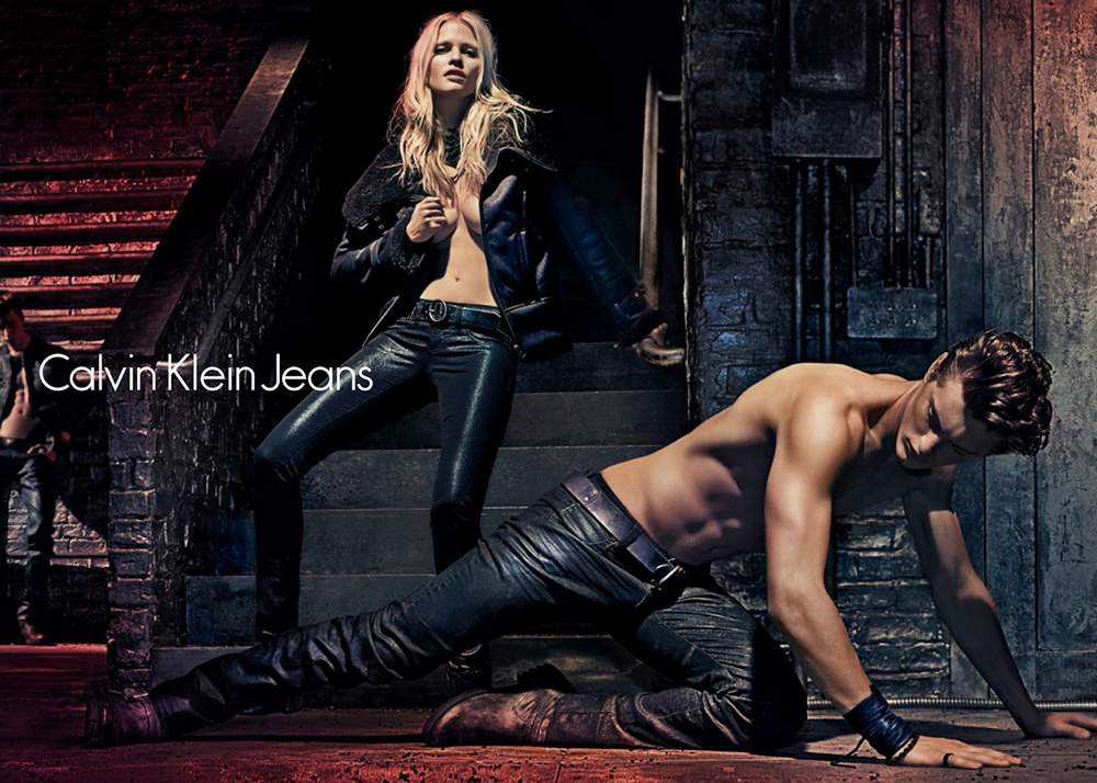 Lara Stone for Calvin Klein Fall 2012 Campaign
