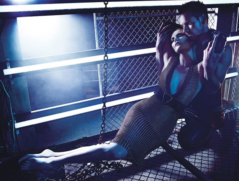 Charlize Theron & Michael Fassbender by Mario Sorrenti