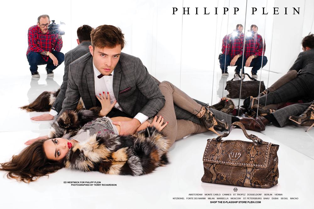 Ed Westwick for Philipp Plein by Terry Richardson эд вествик