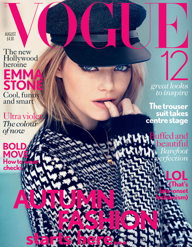 0f5d654a4e190 Emma Stone for Vogue UK August 2012