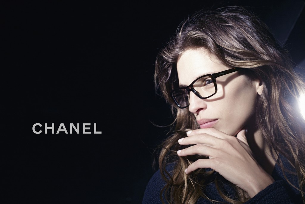 For the new chanel eyewear advertisement by karl lagerfeld