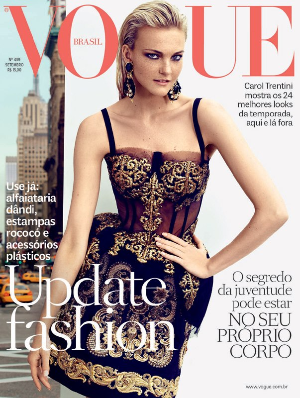 Caroline Trentini in Dolce   Gabbana for Vogue Brasil f2571c972f