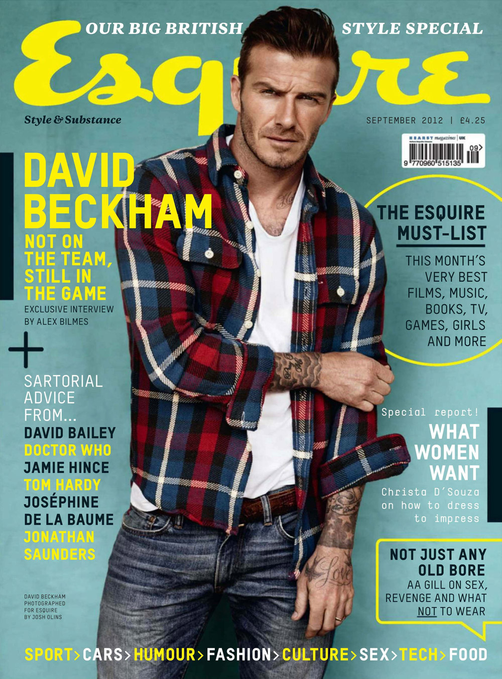 Cover Story For Wired Uk Kevin Gray S Portfolio: David Beckham For Esquire UK September 2012