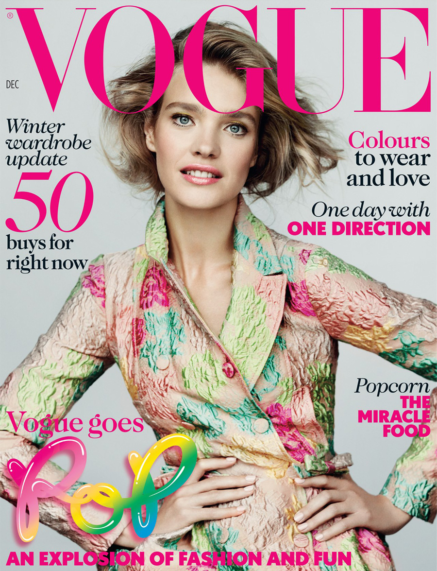 Natalia Vodianova For Vogue UK December 2012