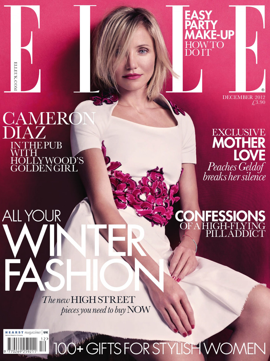 Elle Magazine France February March: Cameron Diaz For Elle UK December 2012