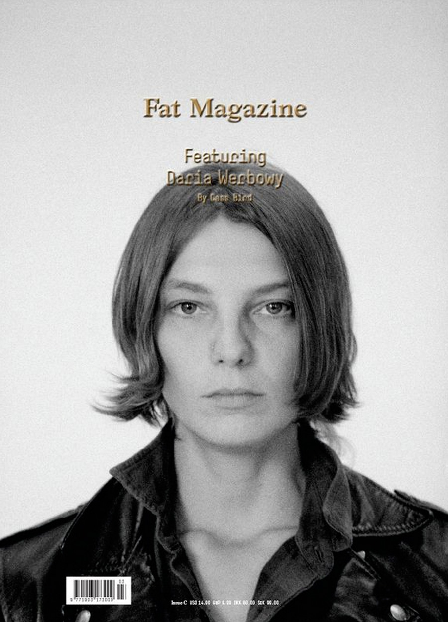 Supermodel Daria Werbowy photographed for the cover of Fat magazine by ...