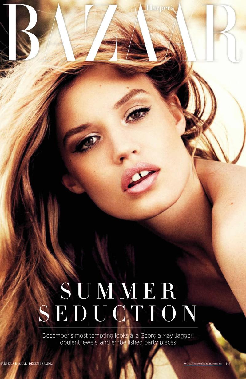 Georgia May Jagger for Harper's Bazaar Australia December 2012