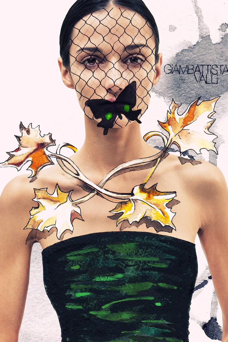 Photography mixed with fashion illustration by Andrew Ivaskiv & Julia Slavinska