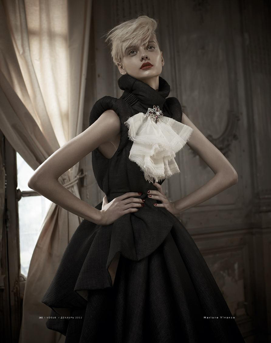 Nastya Kusakina By Mariano Vivanco For Vogue Russia