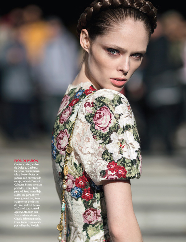 Coco Rocha in Dolce   Gabbana by Dewey Nicks for Vogue Mexico 1d60976c6b