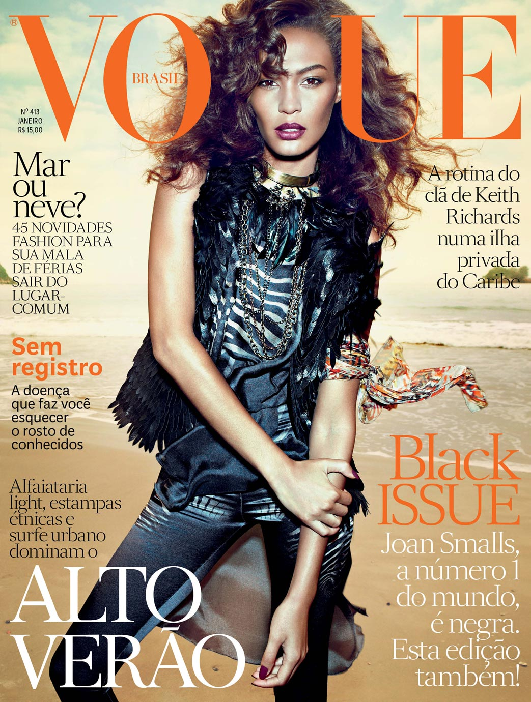 Joan Smalls For Vogue Brazil January 2013