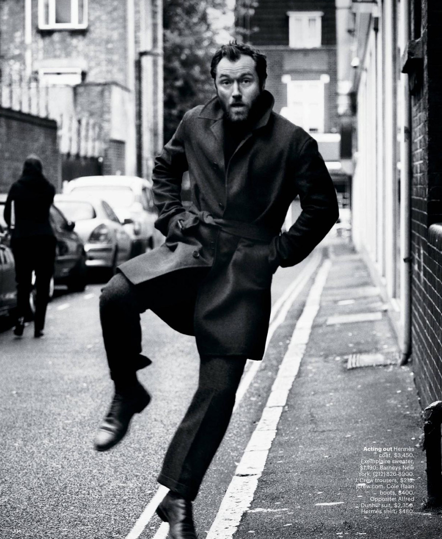 Jude Law For The New York Times Style Holiday 2012