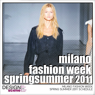 MILANO FASHION WEEK SCHEDULE