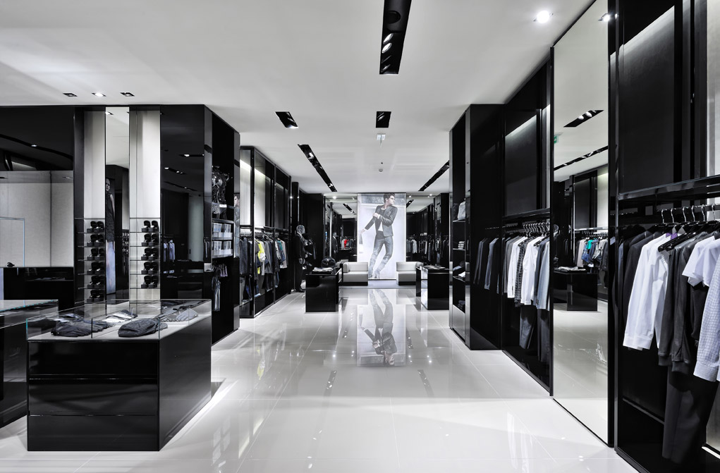 White black clothing store locator