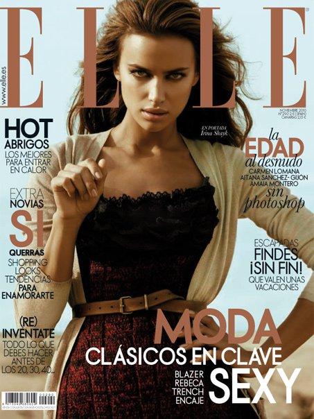 Irina Shayk Covers Elle Spain