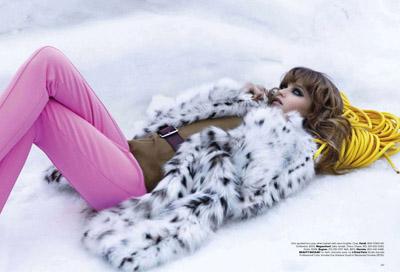 Abbey Lee Kershaw Karl Lagerfeld