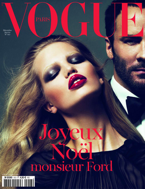 Daphne Groeneveld & Tom Ford by Mert & Marcus for Vogue Paris