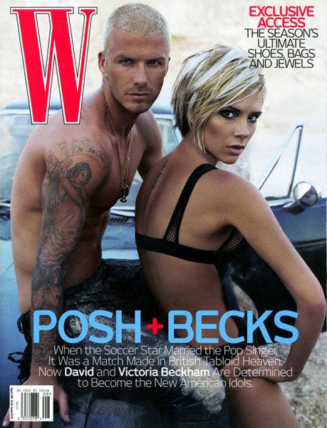 david victoria beckham w magazine