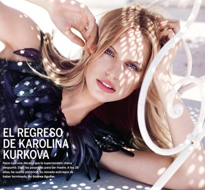 Karolina Kurkova by Marcin Tyszka
