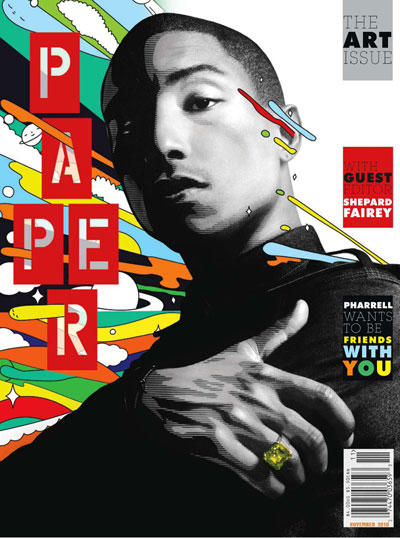 Pharrell Williams Paper Shepard Fairey