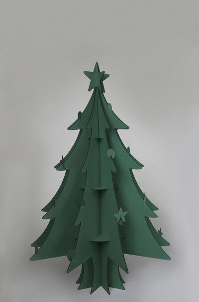 recycled CARDBOARD CHRISTMAS TREEE