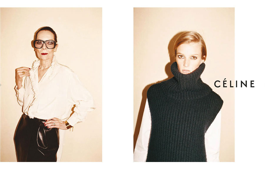 Sigrid Agren and Emma Balfour for Céline Fall Winter 2010 Carey Mulligan