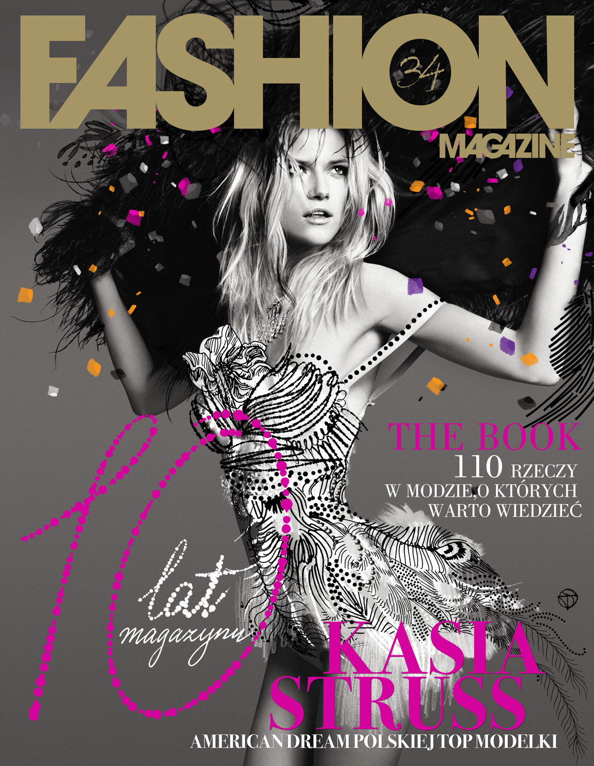Fashion Magazines Look To Familiar Faces For Cover Models: Exclusive: Kassia Struss For Fashion Magazine's 10th