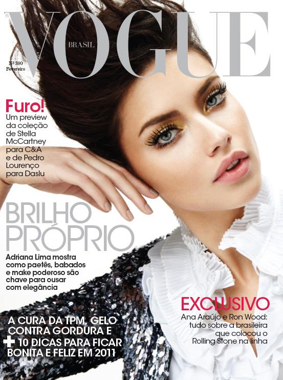 Adriana lima covers vogue brasil february 2011 Revista fashion style magazine