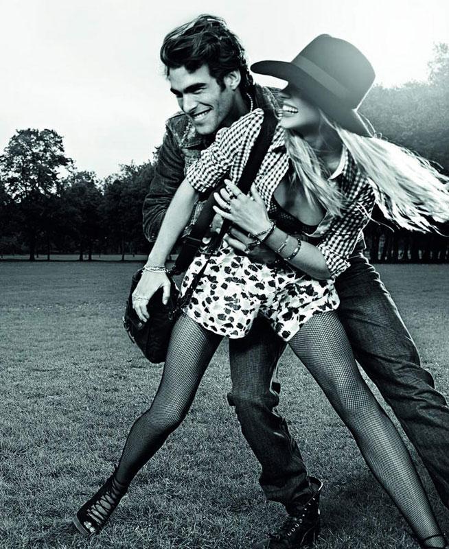 Anne Vyalitsyna & Jon Kortajarena for Pepe Jeans Spring ...