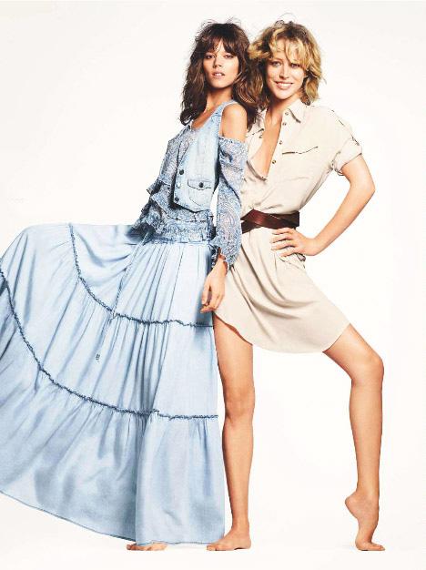Freja Beha and Raquel Zimmermann