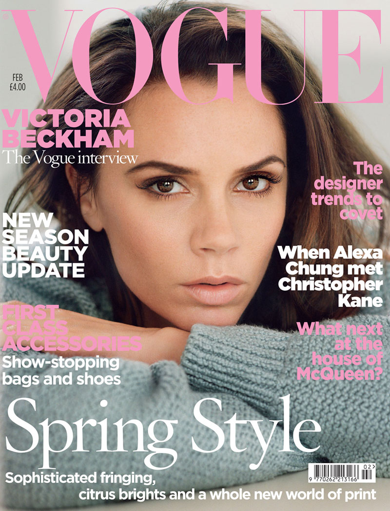 victoria beckham for vogue uk february 2011