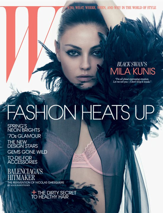 Mila Kunis For W Magazine's March 2011 Issue