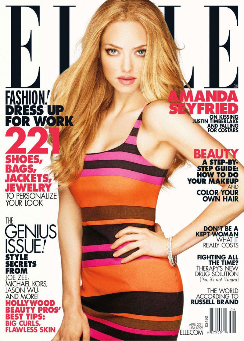 Amanda Seyfried for Elle US April 2011