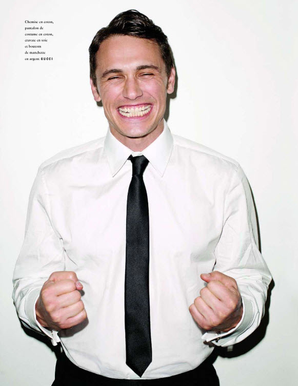 James Franco on The Cover of Vogue Hommes International