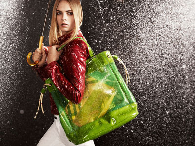 Burberry April Showers Accessories Starring Cara Delevingne