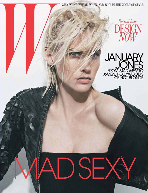 january jones for w may 2011