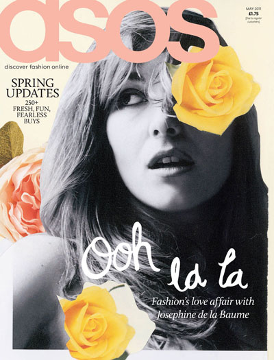 Asos Fashion Online on Josephine De La Baume Covers Asos Magazine