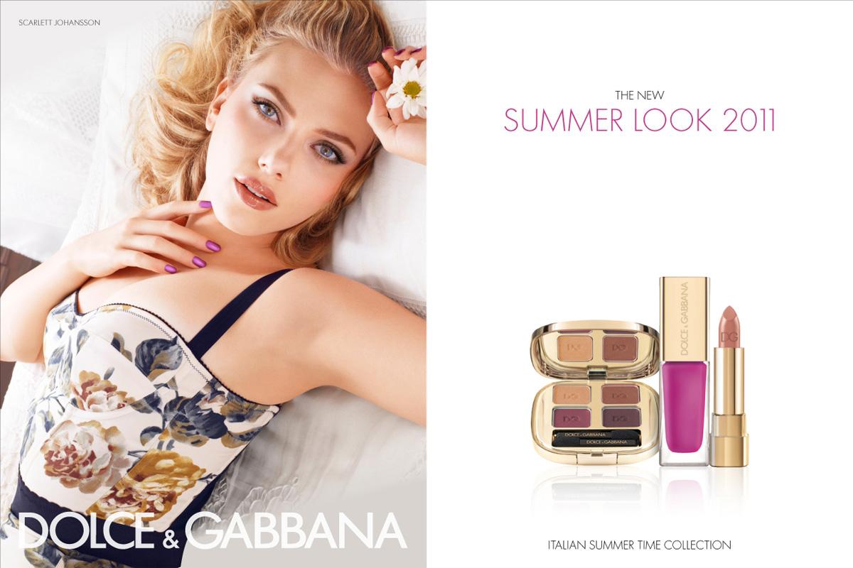 scarlett johansson for dolce gabbana make up summer look 2011. Black Bedroom Furniture Sets. Home Design Ideas