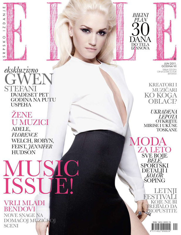 Gwen stefani for elle serbia june 2011 for Elle magazine this month