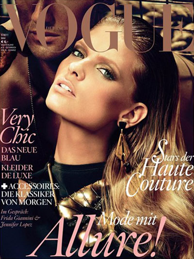 0691e7a803e Photographer  Alexi Lubomirski Website  www.vogue.de. Top model Julia  Stegner fronts this month s striking cover of Vogue Germany lensed ...