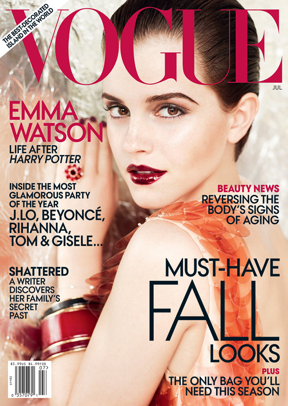 emma watson vogue july 2011. Magazine: US Vogue Issue: July