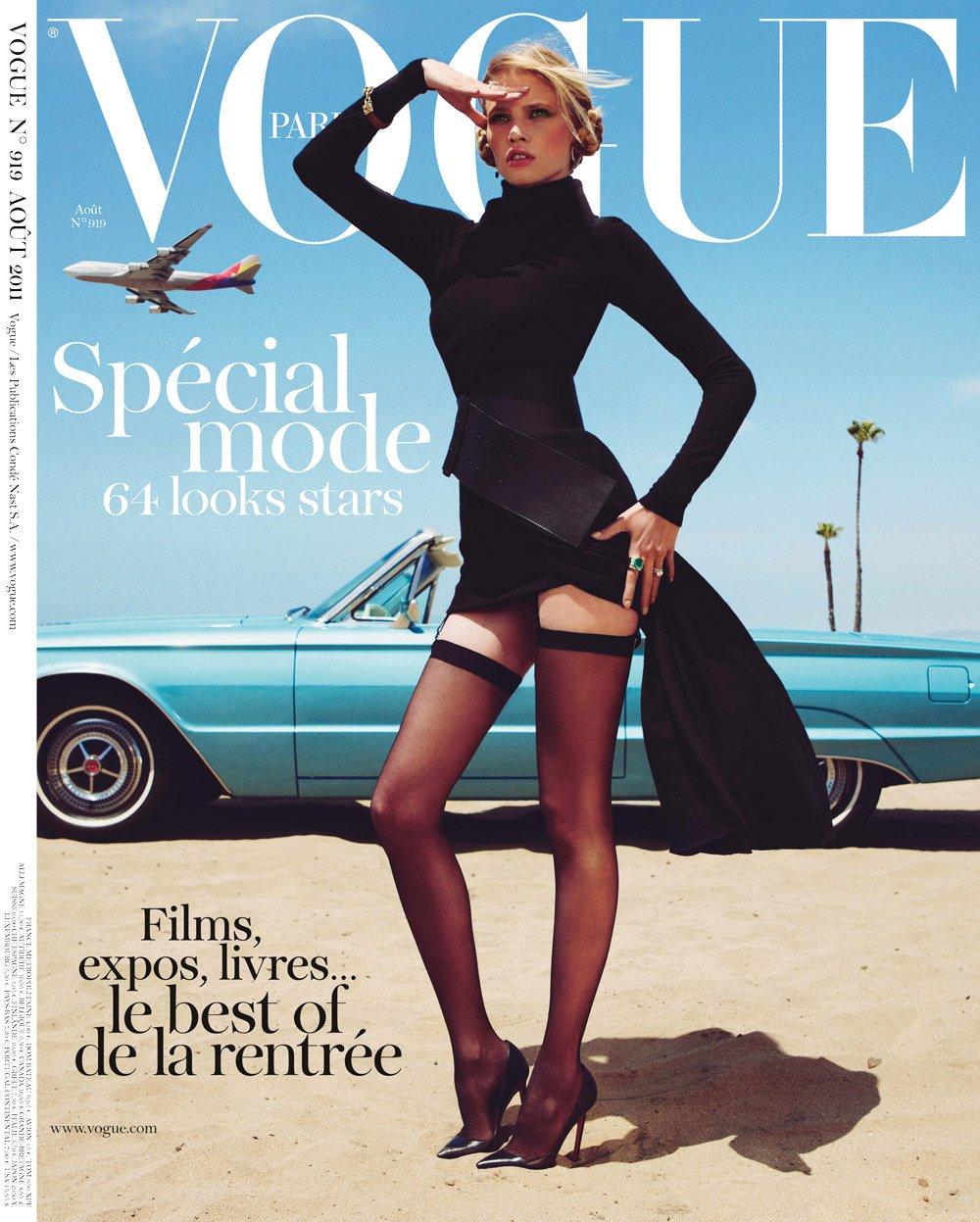 Lara Stone For Vogue Paris August 2011