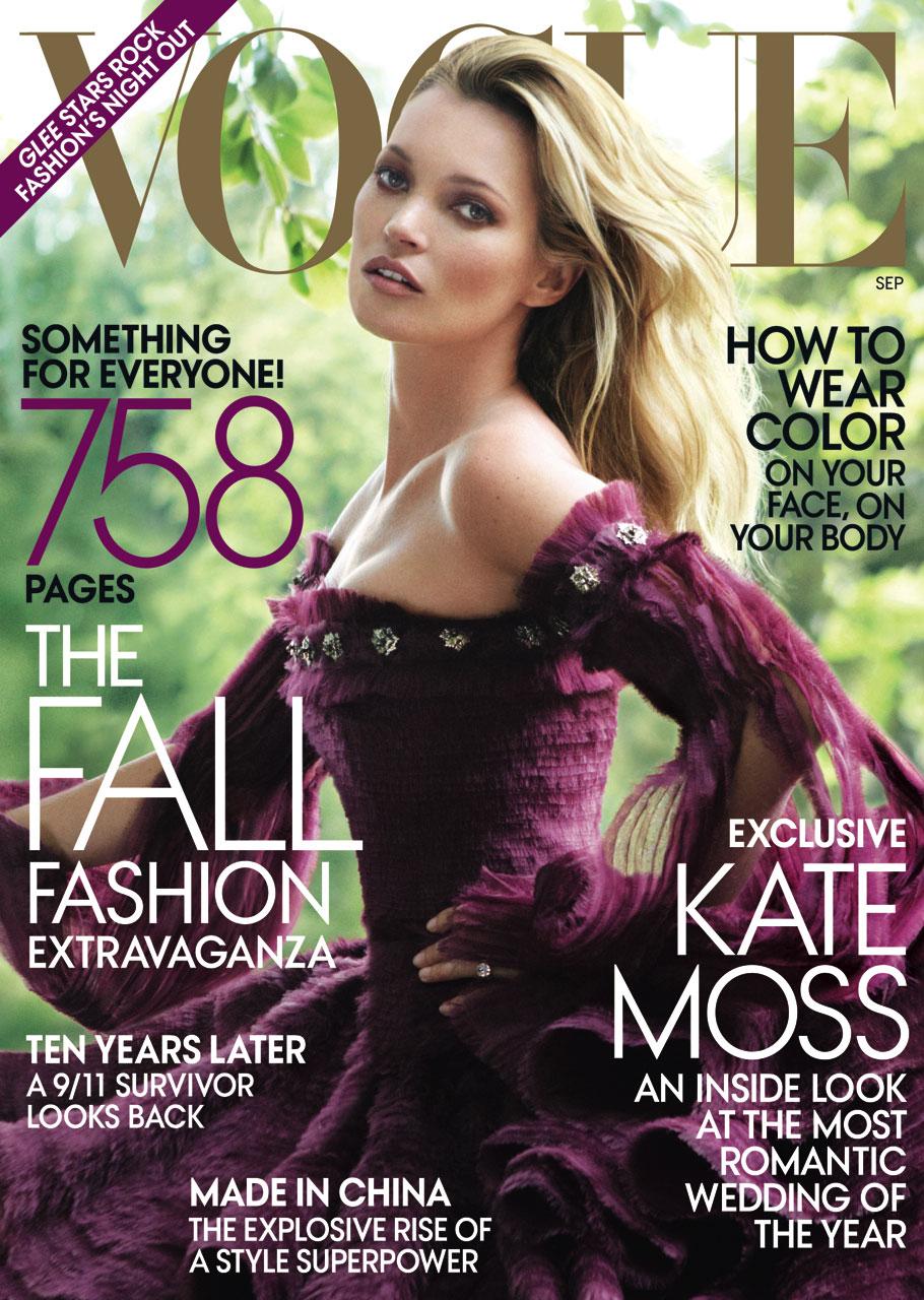 Vogue Magazine Subscription: Kate Moss Covers Vogue US September 2011