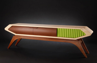 Designer Jory Brigham brings a unique re-interpretation to the ever loved  retro sentiment with his own furniture collection.