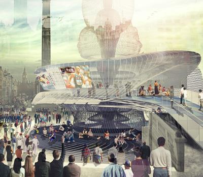 London Olympics Kiosk Warren Techentin Architecture